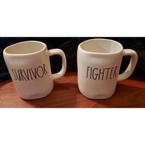 NWT Rae Dunn Surviver and Fighter Set